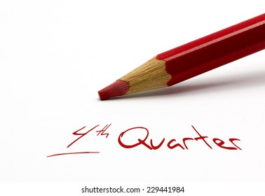 Red pencil - 4th Quarter