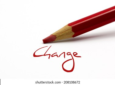 Red pencil - Change