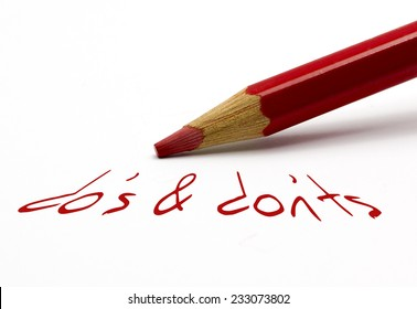 "Red pencil - do's and dont""s"