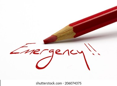 Red pencil - Emergency !!