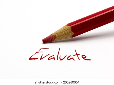 Red pencil - Evaluate