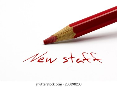 Red pencil - New staff