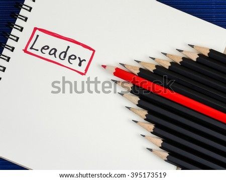 Red Pencil Standout Black Pencil Handwriting Stock Photo (Edit Now