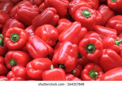 red pepper bells as fresh vegetable background