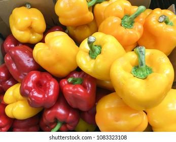 red pepper (capsicum) found in a market