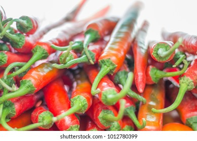red pepper chili.soft focus, backlight on background