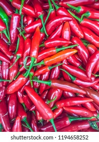Red pepper in the display