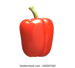 Red pepper isolated on a white background