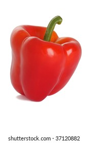 Red pepper isolated on the white background