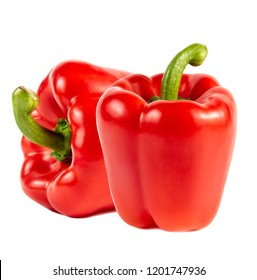 red pepper over white background high resolution