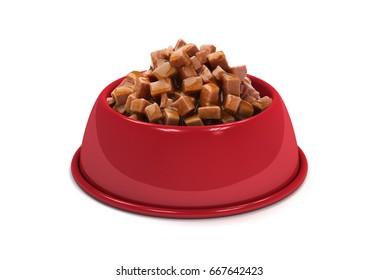Red Pet food Bowl