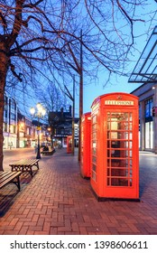 The red phone box is a familiar sight on the streets of the United Kingdom. This box is situated in Chester city, UK.