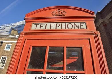 Red phone box,London, 19/ 01 / 2017