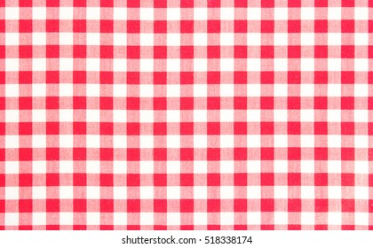 Red picnic cloth pattern wallpaper background.Kitchen menu backdrop.Retro fabric surface transparent.