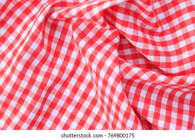 Red picnic cloth pattern wallpaper background, checkered tablecloth