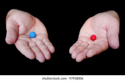 Red Pill Blue Pill concept