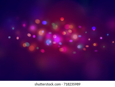 red pink abstract background with bokeh lights for background and wallpaper Christmas.