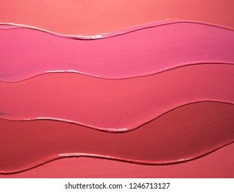 Red pink orange lipstick background texture smudged