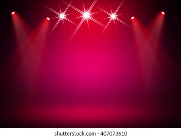 Red pink stage background