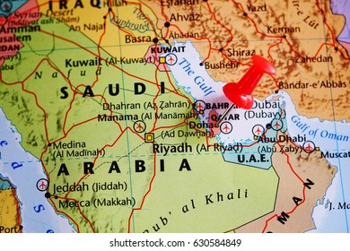 Where Is Doha Qatar On The World Map.Doha Qatar Map Images Stock Photos Vectors Shutterstock