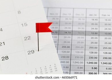 Red Pins to Wildcats on the calendar beside the Twenty nine number of month in business concept.