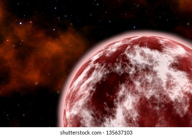 red planet. Element s of this image furnished by NASA
