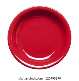 red plate with clipping path