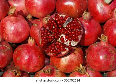 Red pomegranate background