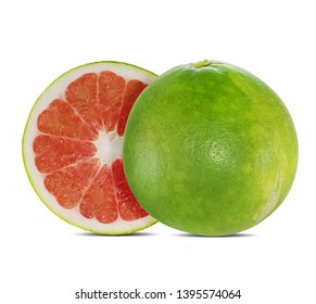 Red pomelo isolated on white background