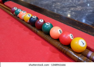 the red pool table