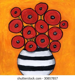Red Poppies Painting / illustration  I am the artist and hold the copyright