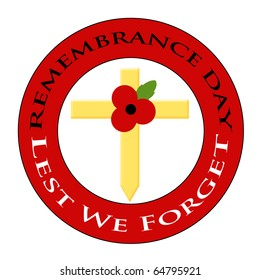Red poppy design for Remembrance Day