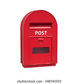 red post box, , isolated on white background