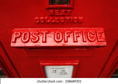 Red post office box britain