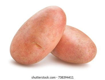 red potatoes path isolated