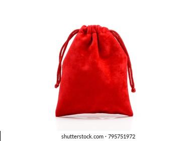 roter Schmuck einzeln auf Weiß