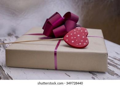 Red present decoration