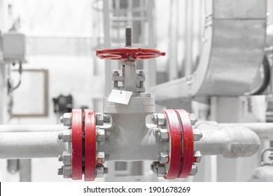 the red process valve is open for natural gas supply