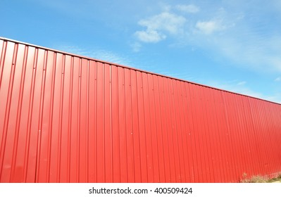 Red Profile Metal Fence