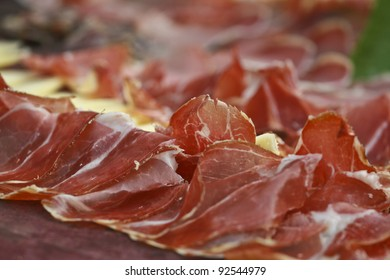 Red prosciutto and cheese