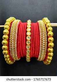 Red Punjabi CHURA Bangles -indian  women accessories