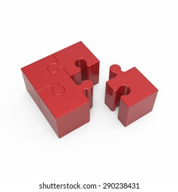 Red puzzle cube