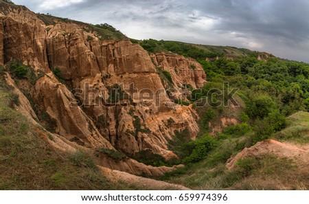 red ravine rapa rosie sebes alba stock photo edit now 659974396