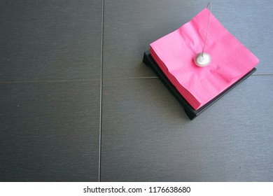 red restaurant tissue paper
