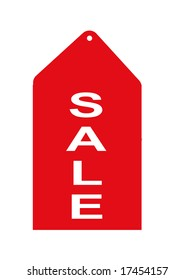 Red retail sale tag