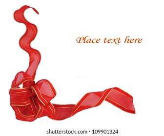 Red ribbon border