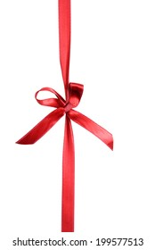 Red ribbon bow wrapping background