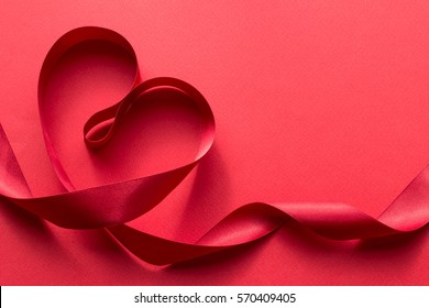 Red ribbon and heart