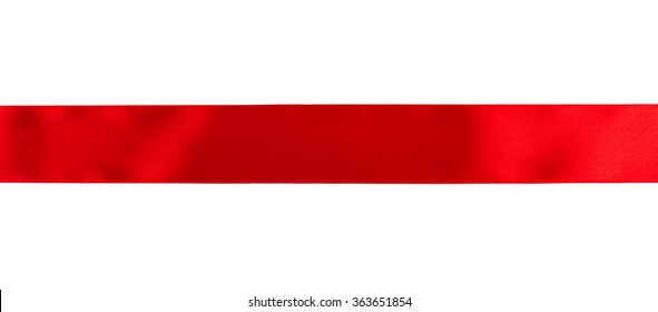 Red ribbon isolated over white background