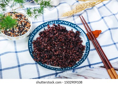 Red rice black rice brown rice three color miscellaneous grains health valley